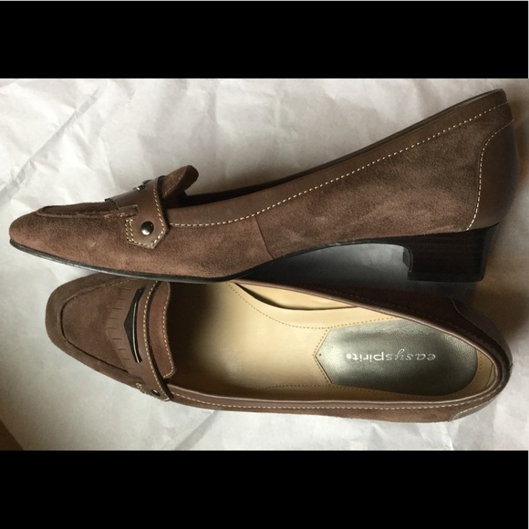 6026d061fd78 Easy Spirit Shoes - Easy Spirit Albot Suede Leather Brown Low Heel